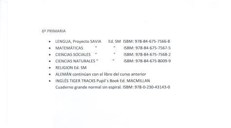 libros 6º